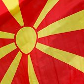 image of macedonia  - Sun rays flag of the Republic of Macedonia - JPG