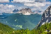 National Park Panorama And Dolomiti Mountains In Cortina D'ampezzo, Northern Italy