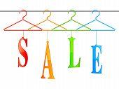 Sale hangers.