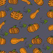 Seamless pattern. Abstract Pumpkin