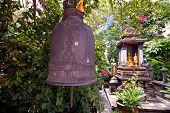 Temple bells hanged at Golden Mount temple, Bangkok, Thailand.