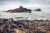 picture of karnataka  - Rock island in the ocean near Om beach in Gokarna Karnataka India - JPG