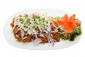 image of catfish  - Crispy catfish spicy salad with sauce Thaifood - JPG