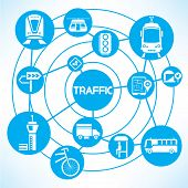 traffic and transportation concept