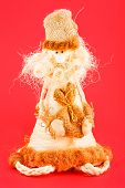 Soft Toy. Doll Made Of Straw