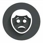 Sad face sign icon. Sadness symbol.