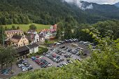 pic of bavarian alps  - Hohenschwangau castle in the Bavarian Alps  - JPG