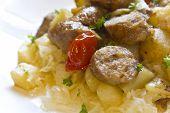 Sauerkraut Sausage And Potatoes