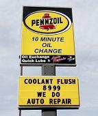 Pennzoil Sign