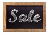Sale Chalk Writing On Chalkboard