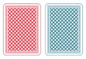 Playing cards back two colors