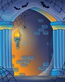Wall alcove image 1 - eps10 vector illustration.