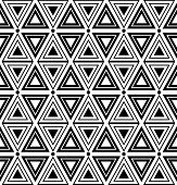 Triangles and diamonds texture. Seamless geometric pattern. Vector art.