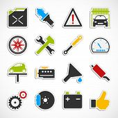 Car Service Icons -  Color