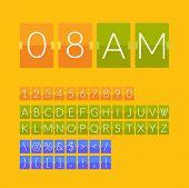 stock photo of countdown timer  - Flat countdown timer - JPG