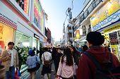 Tokyo, Japan - November 24, 2013: Crowd At Takeshita Street Harajuku In Tokyo