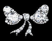 Diamond Bow On Black (high Resolution 3D Image).