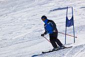 Skier At Mountains Ski Resort Innsbruck - Austria