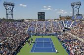 Aerial view of the Armstrong Stadium  during US Open 2014 first round match with Andy Murray