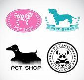 Set Of Vector An Pet Shop Label