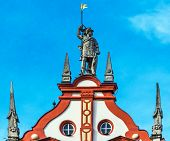 Town Hall with Renaissance Gable Monument in Coburg, Bavaria