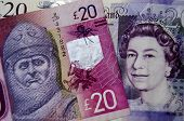 Robert the Bruce and Queen money