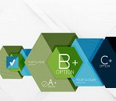 Geometric abstract background layout, infographic banner