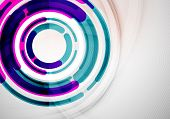 Modern futuristic rings and circles design template, business colorful abstract background