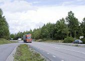 HIGHWAY 55, SWEDEN ON SEPTEMBER 01. Traffic on Highway 55.