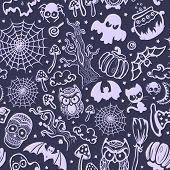 Vector vintage Halloween seamless