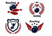 Bowling emblems or badges