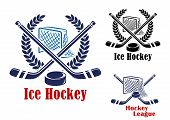 Постер, плакат: Ice hockey symbol