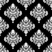 Retro white damask seamless pattern