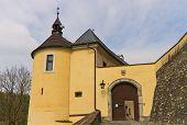 Entrance Of Chesky Shternberk Castle (1241) In Czech Republic