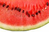 Fresh slice of watermelon, close up