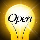 Lightbulb Open Represents Startup Lamp And Bright