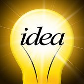 Ideas Lightbulb Represents Creative Conception And Concepts