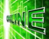 Internet Online Represents World Wide Web And Digital