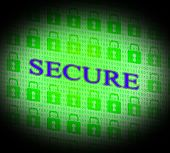 Security Secure Represents Unauthorized Login And Secured