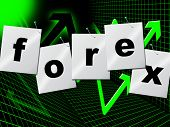 Forex Graph Means Foreign Exchange And Currency