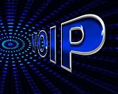 Voip Telephony Means Voice Over Broadband And Protocol