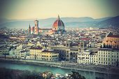 Panoramic view of Florence, Tuscany, Italy
