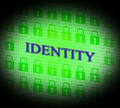 Online Identity Represents World Wide Web And Branding