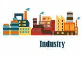 Industrial buildings flat design