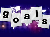 Goals Targets Indicates Aspirations Objectives And Forecast