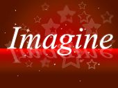 Imagine Thoughts Shows Thoughtful Creative And Imagined