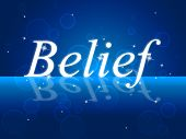 Believe Word Represents Belive In Yourself And Confidence