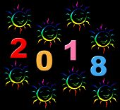 New Year Represents Two Thosand Eighteen And Celebrate