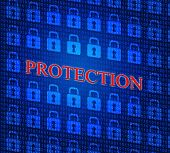 Security Protection Represents Encrypt Secured And Login