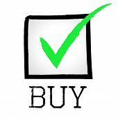Buy Tick Indicates Buyer Checked And Buying